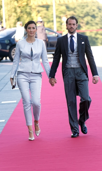 The happy couple arrived hand-in-hand at Philarmonie in Luxembourg to celebrate National Day in 2016. 