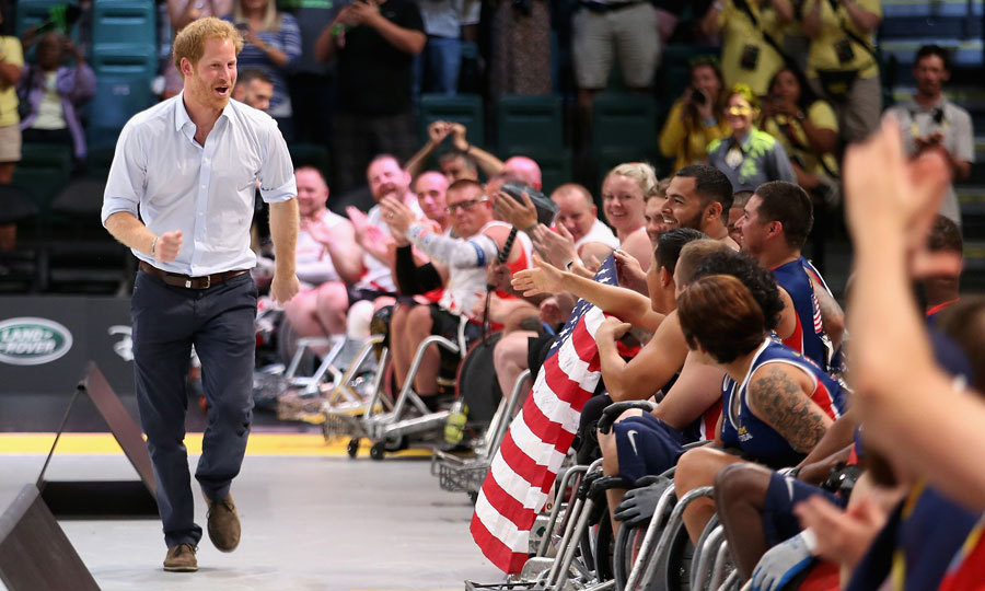 <p>Prince Harry will have the support of his girlfriend throughout the games.</p>