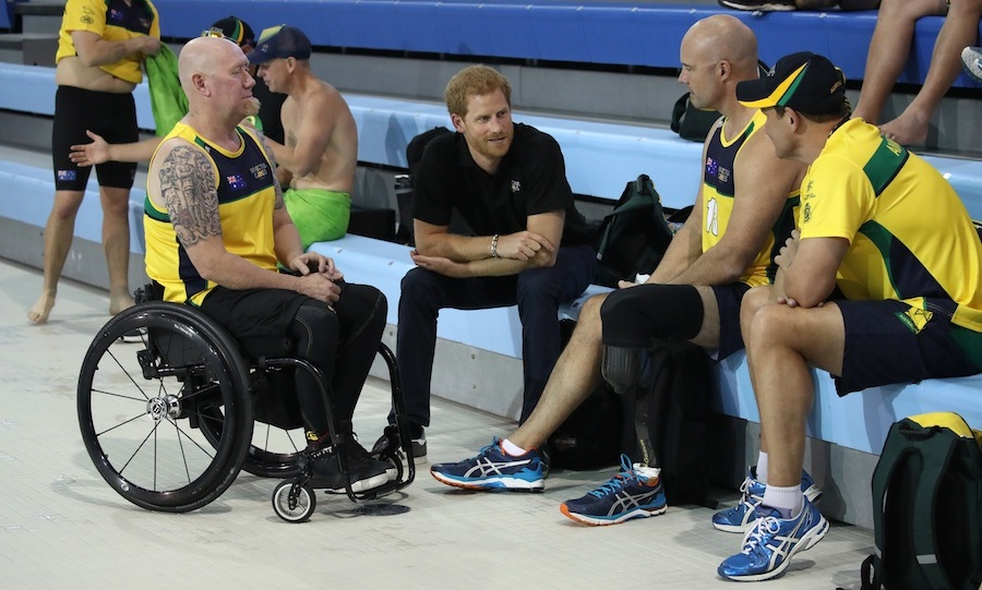 Team Australia received a pep talk from the 33-year-old royal. 