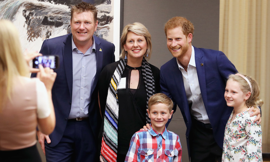 Ahead of the True Patriot Love Symposium on Sept. 22, Prince Harry met with veterans and their families. 