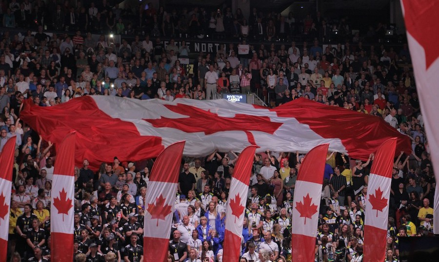 Thousands packed the Air Canada Centre to welcome Team Canada and 16 other competing nations. 