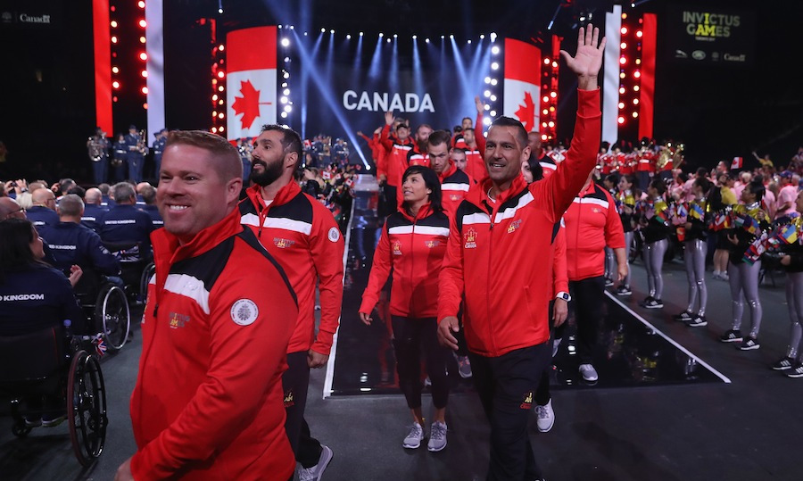The crowd went wild when Team Canada marched into the arena. 