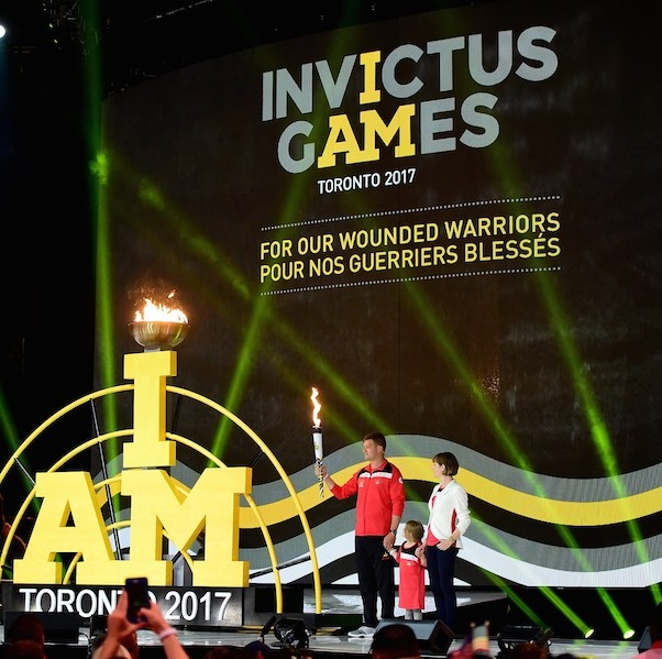 The Invictus Games flame has arrived in Toronto. 