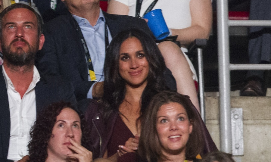 Meghan Markle made her royal debut at the opening ceremonies. She was seated in the section next to her boyfriend. 