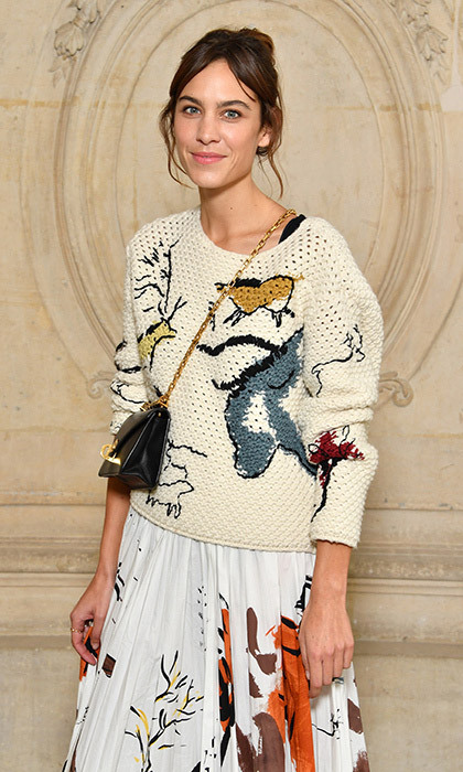 <p>Alexa Chung's a-dior-able knit at the presentation had us ready for sweater weather. <br /><br />Photo: &copy; Pascal Le Segretain/Getty Images for Dior</p>