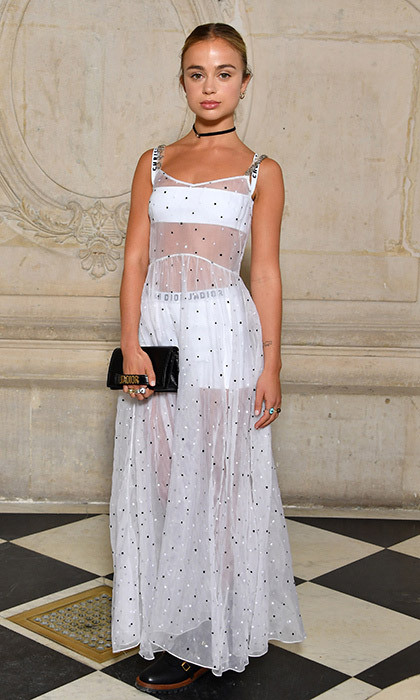 <p>British royal Lady Amelia Windsor donned a sheer gown for Christian Dior.<br /><br />Photo: &copy; Pascal Le Segretain/Getty Images for Dior</p>