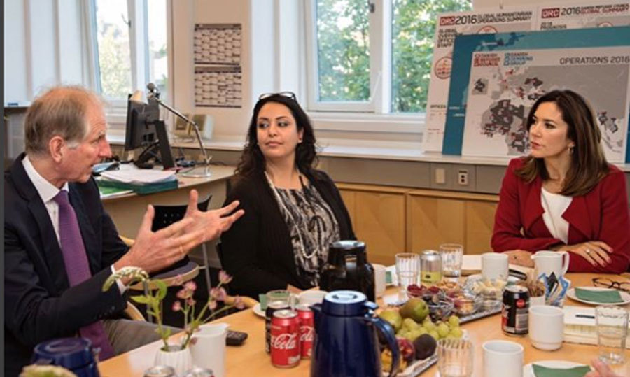 <p>Crown Princess Mary met with the Danish Refugee Council. The Crown Princess spoke about the current refugee situation and the organization's ongoing work to focus on certain areas.<br /><br />Photo: Instagram/@ detdanskekongehus</p>