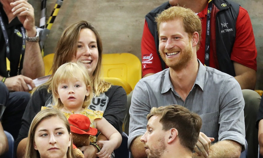 Harry was back at Mattamy Athletic Centre on Wednesday night to watch sitting volleyball. The royal was joined in the stands by little Emily Henson, daughter of Olympian Dave Henson and his wife Hayley.