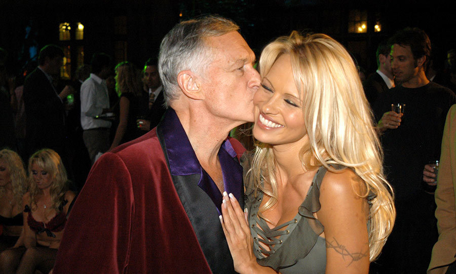 <p>The American icon had a lot of celebrity friends, including Pamela Anderson, pictured here with him.</p>