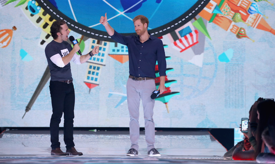 The crowd at WE Day received a royal surprise on Thursday (Sept. 28) when Prince Harry dropped in for a quick speech. The 33-year-old told the youth how much he admired their dedication to service. 