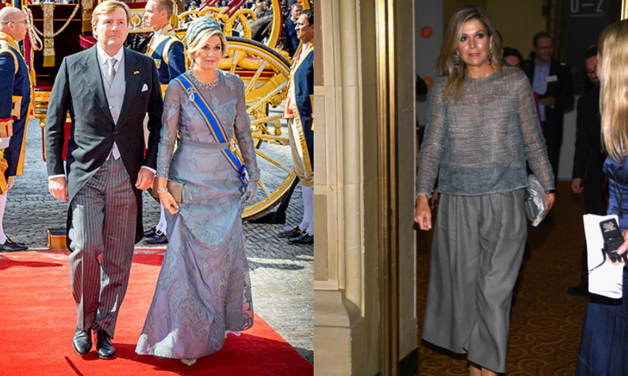 <p>Queen Maxima certainly had a stylish Tuesday. She started September 19 opening Dutch Parliament with her husband King Willem-Alexander in a Natan gown, and then she made her way to New York City to attend the Goalkeepers Global Goals Awards in a similar hue but more comfortable dress.</p>