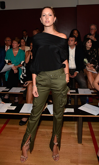 <p>Earlier, the Greek royal rocked a military-inspired look at the Monse show at NYFW. </p>