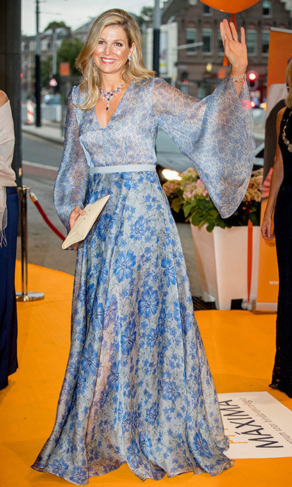 <p>Queen Maxima of the Netherlands showed she's a fan of the season's statement sleeve trend as she attended a benefit gala for the Princess Maxima Center in Amsterdam.</p>