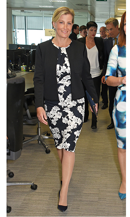 <p>Sophie, Countess of Wessex put her best foot forward as she joined the business set in officewear at the BGC Charity Day on September 11 in London.</p>