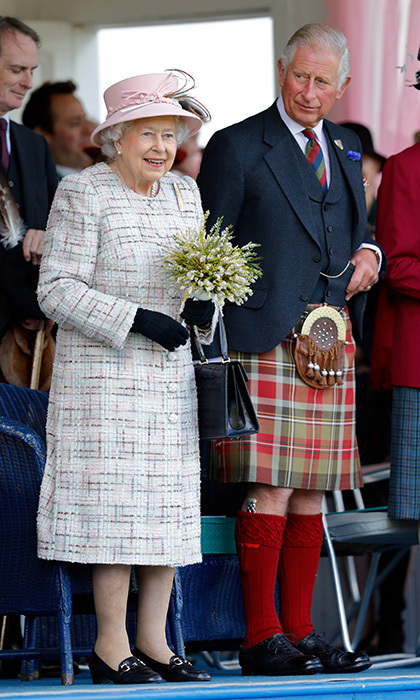<p>Tartan was the name of the game for Prince Charles, who wore a kilt as he joined mom Queen Elizabeth at the 2017 Braemar Gathering in Braemar, Scotland on September 2.</p>