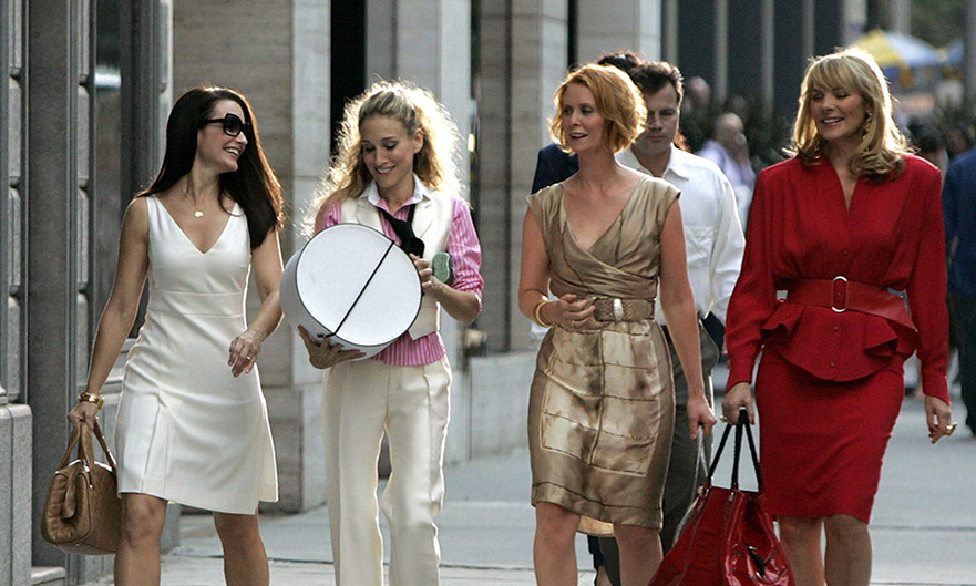 <p>Sarah Jessica Parker stars in Sex and the City alongside Kristin Davis, Cynthia Nixon and Kim Cattrall.</p>