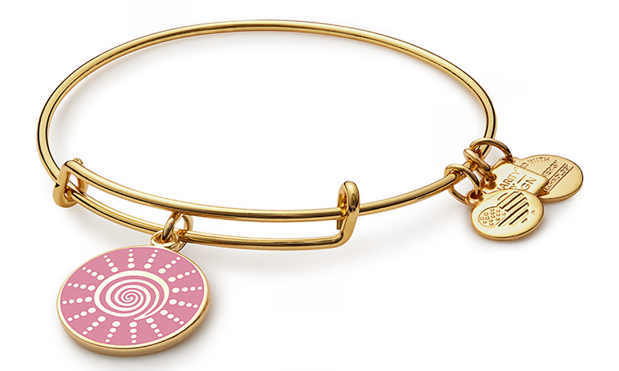 <p><strong>Spriral Sun Charm Bangle</strong>, $46, <em>alexandani.com</em></p><hr><br><p><em>With 20 per cent of each sale going to the Breast Cancer Research Foundation, this stackable bangle feels as good as it looks. </em></p>