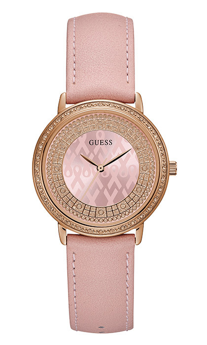 <p><strong>Sparkling Pink Watch</strong>, $125, <em>guess.ca</em></p>