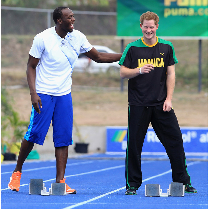 <p>Usain wants to plan Prince Harry's bachelor party.</p>