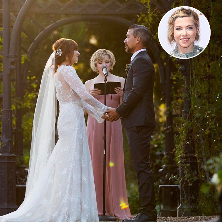 Canadian pop star Carly Rae Jepsen got to live out her dream on Oct. 4 when she singer married her two best friends in a stunning autumnal wedding ceremony. The star looked truly ethereal in a blush pink gown, her blond hair styled into short wavy curls. Carly was also one of six bridesmaids to BFF bride Alex Jillian, who is now enjoying the ultimate Grecian honeymoon with her new husband.
