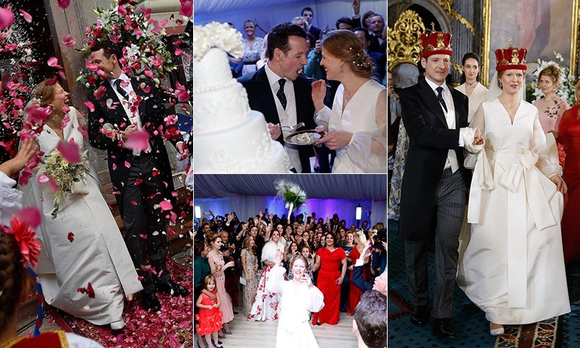 Prince Philip of Serbia and his fiancée Danica Marinkovic tied the knot in a spectacular wedding at the White Palace in Belgrade, Serbia, with a host of European royals in attendance. 