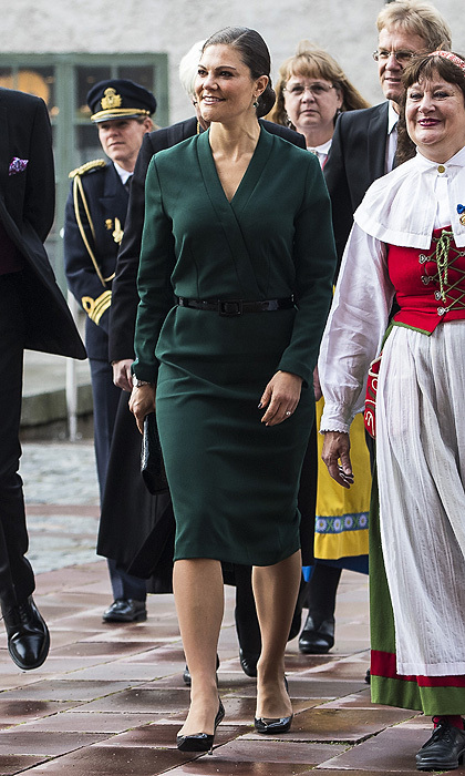 "<p>The rain certainly didn't dampen her mood – or her style – as <a href=""/tags/0/crown-princess-victoria/"">Crown Princess Victoria of Sweden</a> stepped out to attend the opening of the Swedish Church meetings at Uppsala Cathedral.<br /><br />Photo: Getty Images</p>"