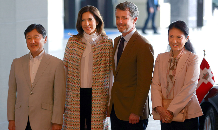 <p>Denmark's Crown Prince Frederik and Crown Princess Mary looked all set to kick off their royal visit to Japan, meeting with Crown Prince Naruhito and Princess Masako in Tokyo. Frederik and Mary are heading up a Danish business delegation with the aim of promoting trade between the two countries. <br /><br />Photo: SHIZUO KAMBAYASHI/AFP/Getty Images</p>