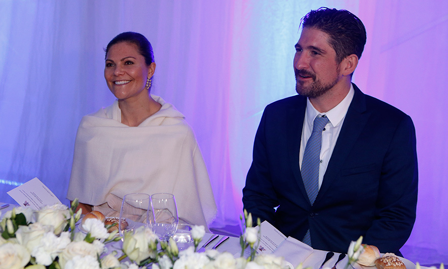 <p>Everyone loves a royal wedding – especially the royals! Sweden's future Queen, Crown Princess Victoria, was one of the guests at Prince Philip of Serbia's nuptials. Here she is seated alongside Prince Aleksandar Karadjordjevic during the reception. <br /><br />Photo: Milica Radicevic/WireImage</p>