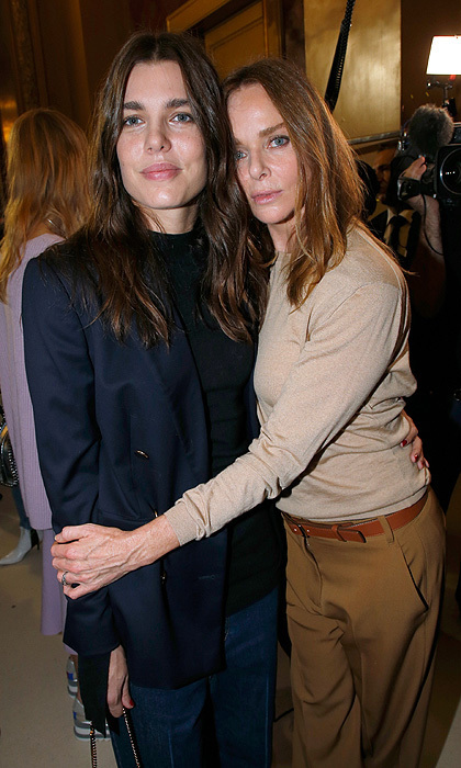 "<p>Monaco's glam young royal <a href=""/tags/0/charlotte-casiraghi/"">Charlotte Casiraghi</a> was the guest of honor at Stella McCartney's Paris Fashion Week show on October 2. The designer caught up with her glam friend backstage after previewing her Womenswear Spring/Summer 2018 collection.<br /><br />Photo: Getty Images</p>"