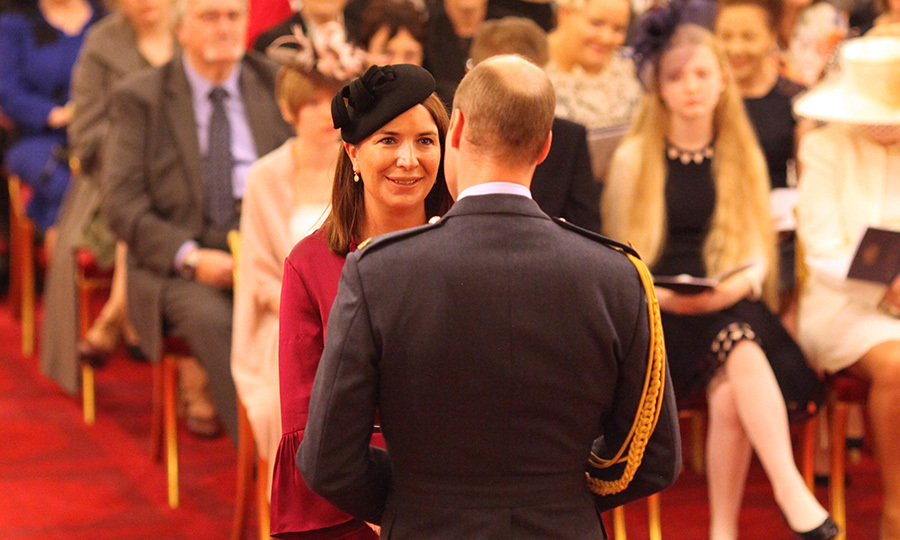 <p>The Duchess of Cambridge's former private secretary Rebecca Priestley is made a Member of the Royal Victorian Order by the Duke of Cambridge during an Investiture ceremony at Buckingham Palace, London.</p>