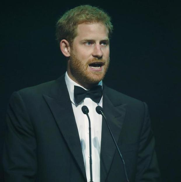 Prince Harry Collects Award For Princess Diana At The