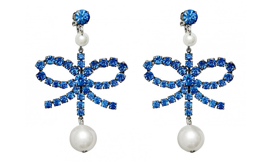 <p>You may not have real sapphires in your jewelry box, but these blue-gem earrings with faux pearls can add a regal touch to any outfit.<br/><br/>Earrings, $39.99<br/><br/>Photo: Erdem x H&M</p>