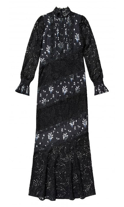 <p>Duchess Kate can't resist a floor-length lace dress for evening – and for us non-royals, this look would be fab for winter's holiday parties.<br/><br/>Dress, $299<br/><br/>Photo: Erdem x H&M</p>