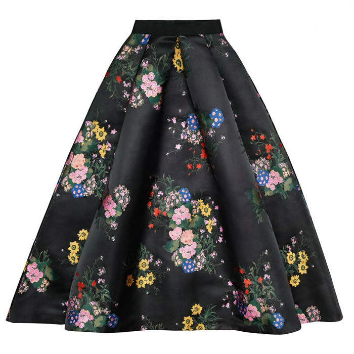 <p>This 1950s-style A-line skirt is in a similar floral print to an Erdem dress Duchess Kate wore in April 2017.<br /><br />Skirt, $199<br /><br />Photo: Erdem x H&M</p>