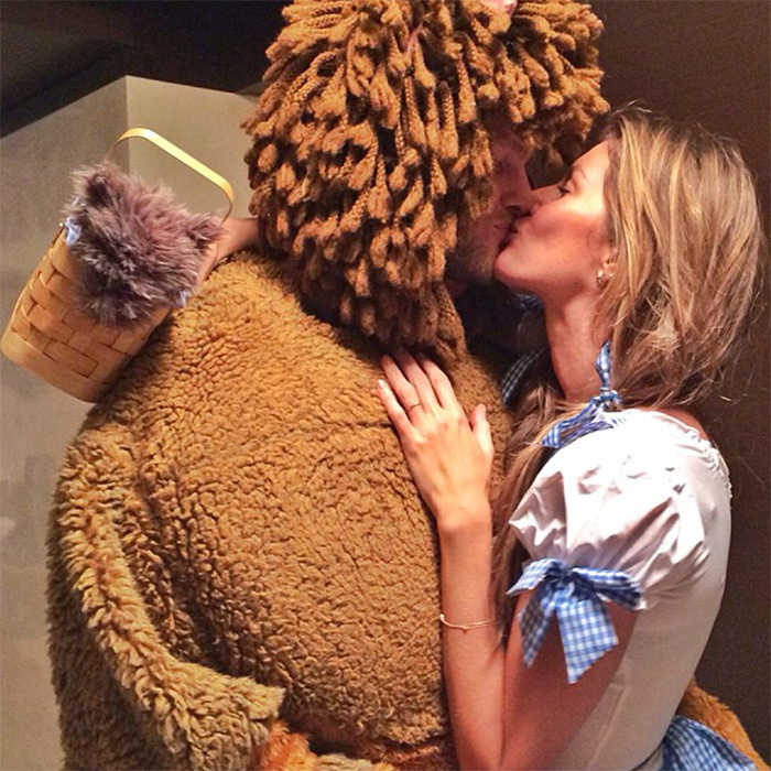 Gisele Bündchen and Tom Brady looked adorable in love in their matching <i>Wizard of Oz</i> costumes in 2013.