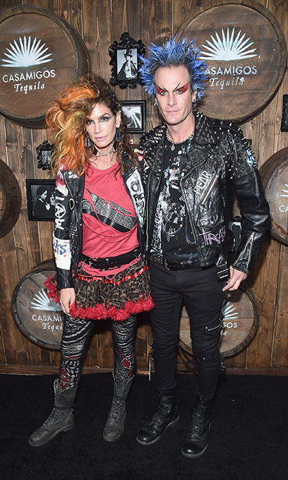 Cindy Crawford and Rande Gerber are one rockin' couple! The A-list duo dressed up as punk rockers for Casamigos Halloween Party in 2016. The rest of the Gerber clan, Kaia and Presley, also joined in on the fun with their own matching costumes.