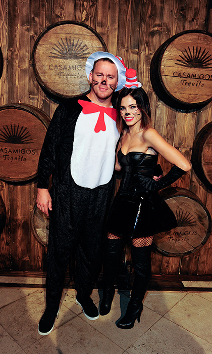 Hollywood's favourite dancing duo Channing Tatum and Jenna Dewan Tatum looked totally adorable in their Dr. Seuss <i>Cat in the Hat</i> costumes. The two posed for a snap at Casamigos Tequila Halloween Party in 2015.