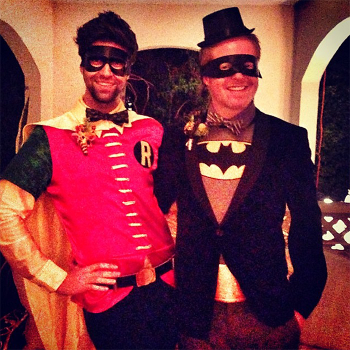 "Lovebirds Jesse Tyler Ferguson and Justin Mikita looked super cute as Batman and Robin. They posed together for an Instagram picture in 2013 and Jesse captioned the photo, ""Batman married Robin!"" Aw!
