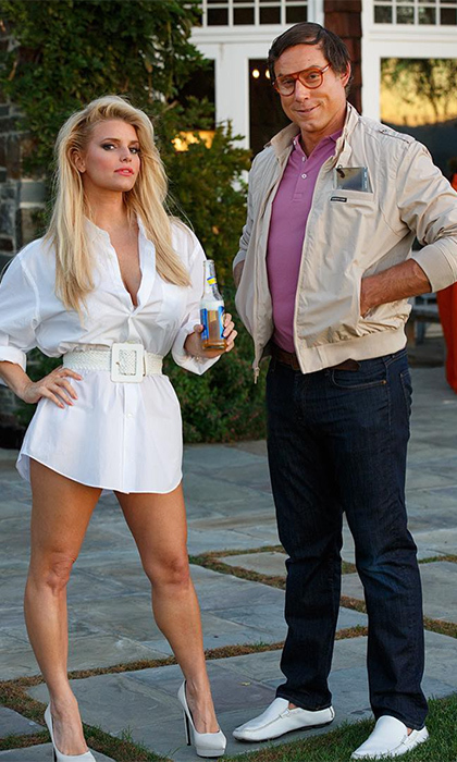 Jessica Simpson and Eric Johnson totally nailed their costumes as Clark Griswold and Christie Brinkley from <i>National Lampoon's Vacation</i> in 2015.