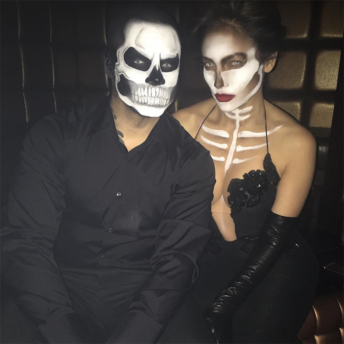 A year before their split in 2016, Jennifer Lopez and Casper Smart were the ultimate seductive skeletons.