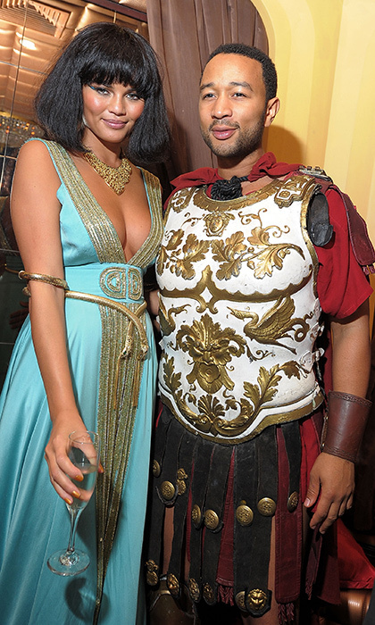 Back in 2010, Chrissy Teigen and John Legend channelled Cleopatra and a Roman warrior for Heidi Klum's halloween bash. 