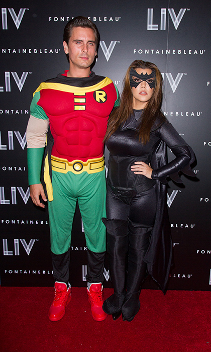 Though Kourtney Kardashian and Scott Disick have since parted ways, they joined forces as Robin and Batwoman in 2012. The two were in attendance at Kim Kardashian's Halloween party at LIV nightclub in Miami.