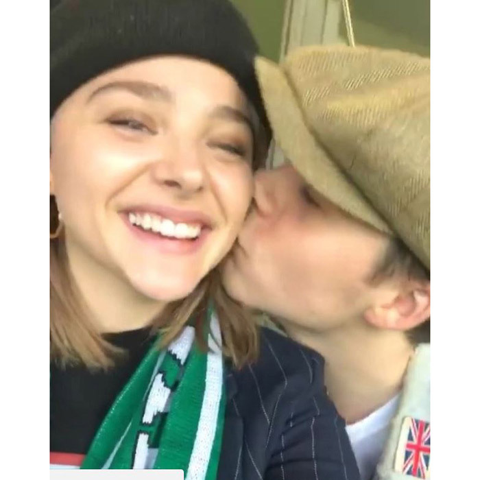 <p>Brooklyn Beckham jetted to Dublin, Ireland to see Chloe Moretz, who is currently in the city filming <em>The Widow</em>. The couple went to a brewery before heading to a soccer game where they showed off their back-on status with some PDA. <br /><br />Photo: Instagram/@chloegmoretz</p>