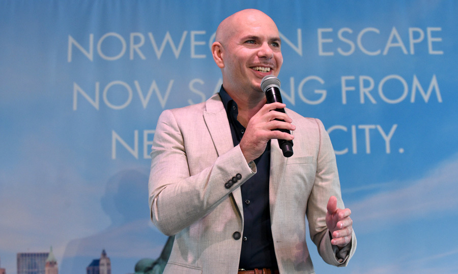 <p>Pitbull AKA Mr. Worldwide attended the Norwegian Escape heads to NYC event at PHD at the Dream Downtown on October 11.<br /><br />Photo: Bryan Bedder/Getty Images</p>