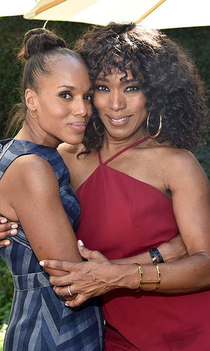 Actors Kerry Washington and Angela Bassett were also on hand to help Oprah celebrate her new inspirational project. 