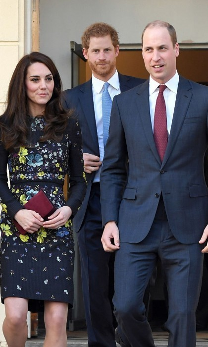 <p>Prince Harry joined his brother Prince William and Kate Middleton for their first engagement together in 2017. The trio visited ICA to discuss Heads Together along with the Virgin Money London Marathon.<br /><br />Photo: Getty Images</p>