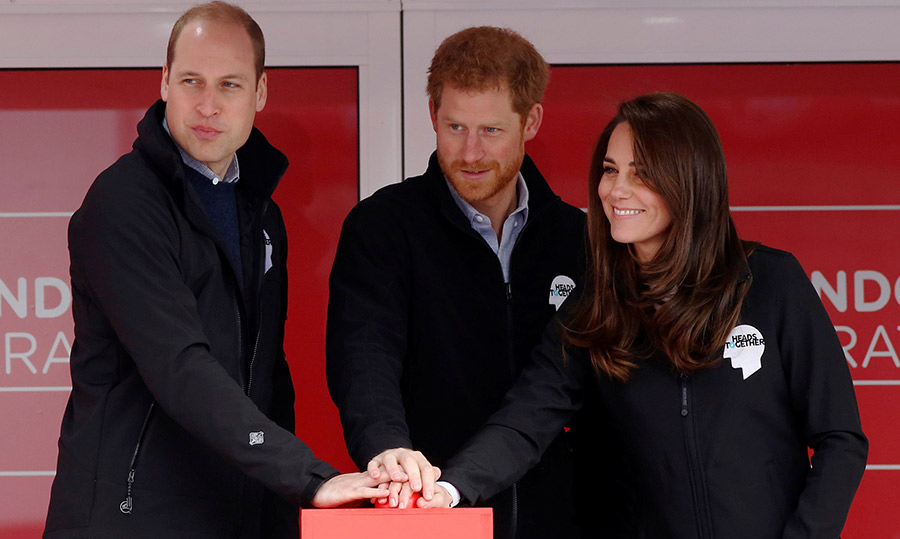 <p>Ready, set, go! Prince William, Prince Harry and Duchess Kate teamed up to officially start the 2017 Virgin Money London Marathon on April 23.<br /><br />Photo: Samir Hussein/WireImage</p>