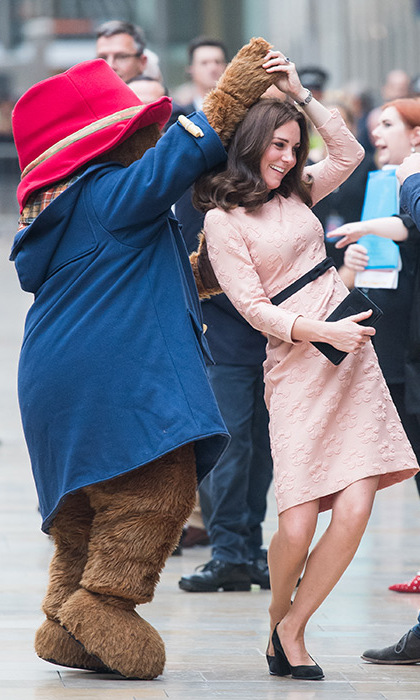 The furry traveller impressed the duchess with his smooth moves!