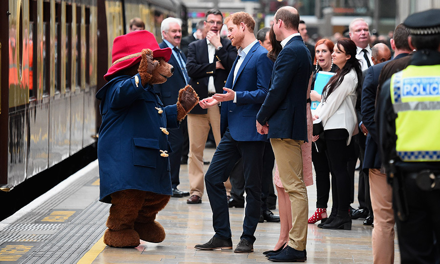 Paddington tried to get Prince Harry to show off his dance moves, but the royal politely declined the invitation before hinting that his sister-in-law might be up for a little jig. 