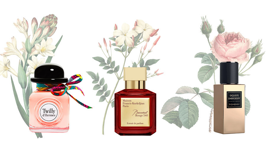 Forever associated with pretty pastel prints, florals took a dark turn on the runway for fall at shows like Erdem, Gucci and Dolce & Gabbana. The latest fragrances are following suit by putting florals front and centre, with star notes like rose, jasmine and tuberose showing off their moodier side. Here's your guide to spritzing the season's best blooms. -- <em>By: Mishal Cazmi</em>